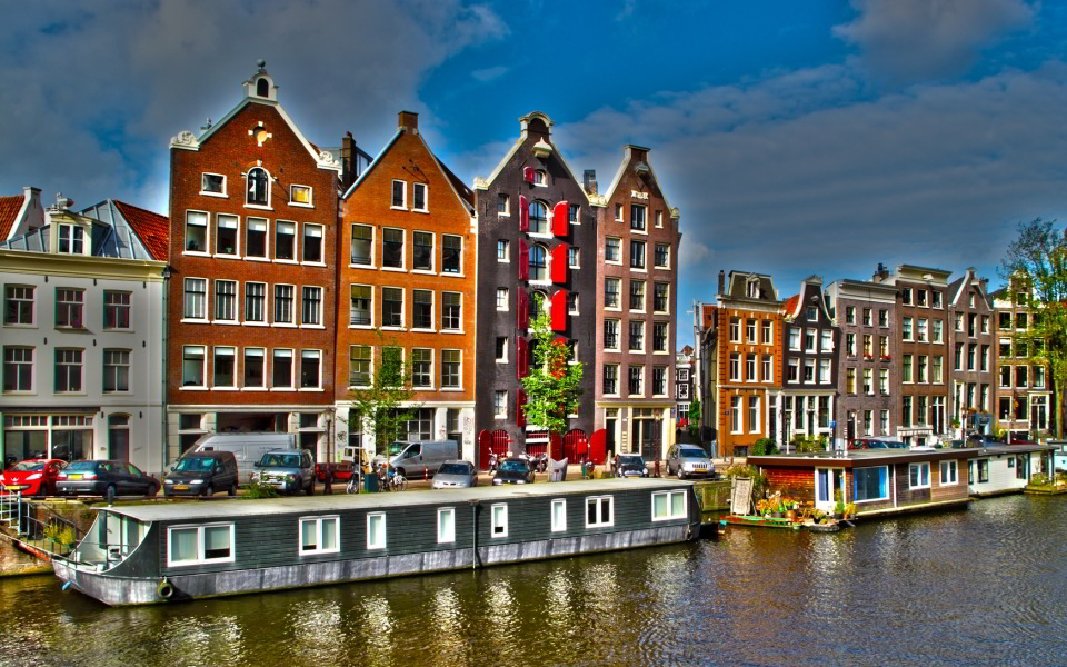Casas flotantes en Ámsterdam