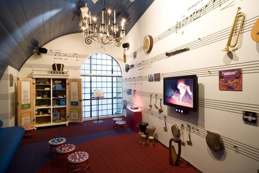Sala de música del Museo Histórico Judío de niños