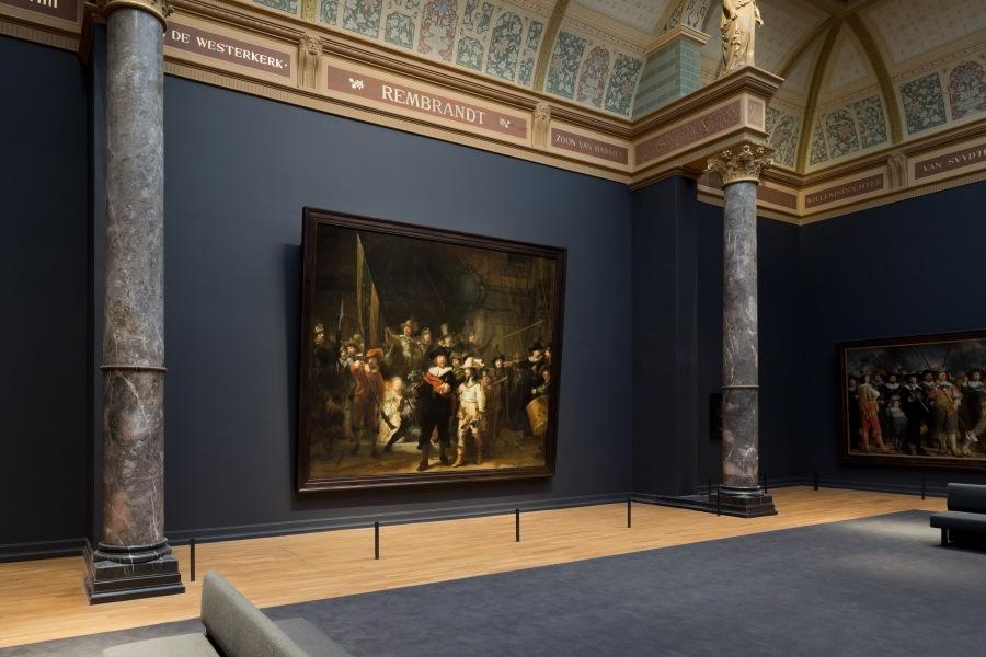La Ronda de Noche en el Rijksmuseum