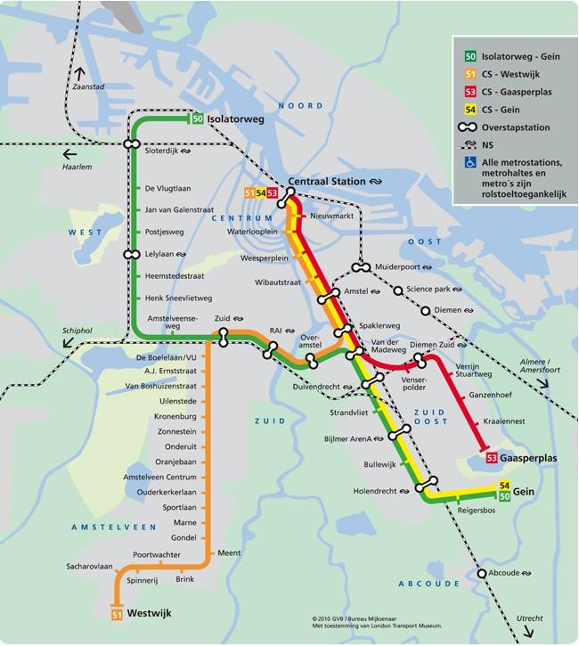 Estaciones de metro en Ámsterdam