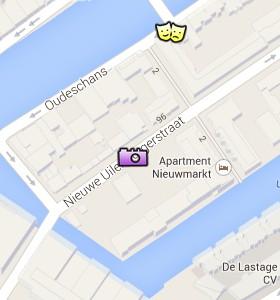 Situación de la Fábrica de diamantes Gassan en el Mapa Interactivo de Ámsterdam