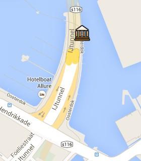 Situación de NEMO en el Mapa Interactivo de Ámsterdam
