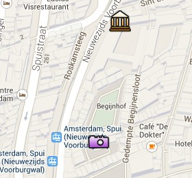 Situación del Museo de la Historia de Ámsterdam en el Mapa Interactivo de Ámsterdam