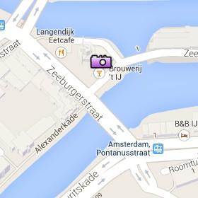 Situación de la Brouwerij't IJ en el Mapa Interactivo de Ámsterdam