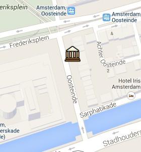 Situación de la Casa Museo Rembrandt en el Mapa Interactivo de Ámsterdam