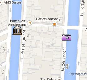 Situación del Museo de la Casa Flotante en el Mapa Interactivo de Ámsterdam