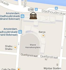 Situación de Heineken Experience en el Mapa Interactivo de Ámsterdam