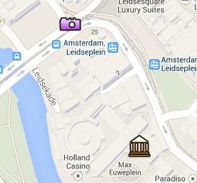 Situación del Max Euwe Centrum en el Mapa Interactivo de Ámsterdam