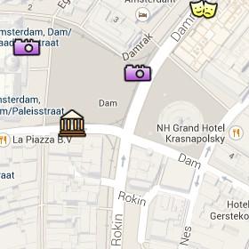 Situación del Madame Tussaud's en el Mapa Interactivo de Ámsterdam