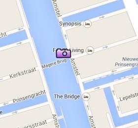 Situación del Magere Brug en el Mapa Interactivo de Ámsterdam