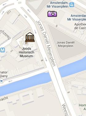 Situación del Museo Histórico Judío en el Mapa Interactivo de Ámsterdam