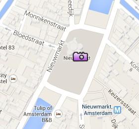 Situación de la Plaza del Nieuwmarkt en el Mapa Interactivo de Ámsterdamq