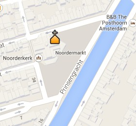 Situación de la Noorderkerk en el Mapa Interactivo de Ámsterdam