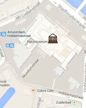 Situación del Rijksmuseum en el Mapa Interactivo de Ámsterdam