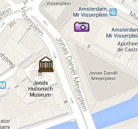 Situación de la Sinagoga Portuguesa en el Mapa Interactivo de Ámsterdam