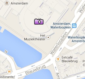 Situación de Stopera en el Mapa Interactivo de Ámsterdam