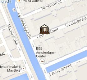 Situación de la Galería Ten Haaf Projects en el Mapa Interactivo de Ámsterdam