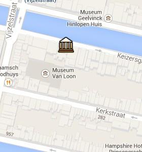 Situación del Museo Van Loon en el Mapa Interactivo de Ámsterdam