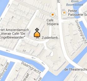 Situación de la Zuiderkerk en el Mapa Interactivo de Ámsterdam